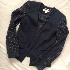 Michael Kors Studded Sleeve Blazer